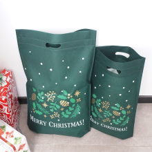 Sacs cabas non tissés vert Noël