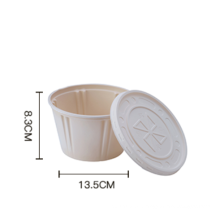 Starch-based biodegradable disposable bowl 800ml / Disposable Corn Starch Bowl with Lid
