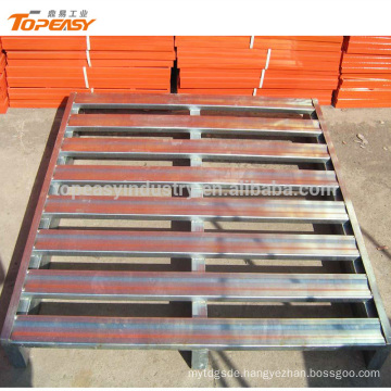 Customized powder coated single faced steel pallet for forklift