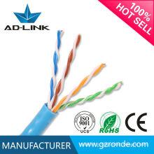 Hot novos produtos 100% puro cobre passe fluke novo azul cor PVC jaqueta alta velocidade cat5e cabos