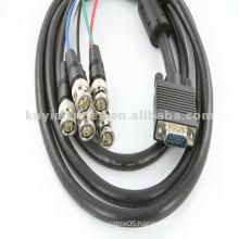 6' HD15 Coax HD15 VGA to 5 BNC RGBHV Cable