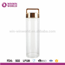 Heat Resistant Double Wall Borosilicate Glass Tea Tumbler 400ml With Strainer