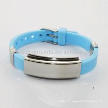 blue silicone rainbow loom bracelet high bracelets energy stainless steel jewelry
