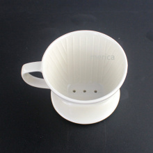 White Ceramic Coffee Dripper with Handle