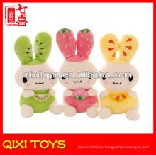 Juguete animal, juguete de conejito de felpa verde