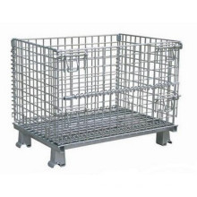 1000X800 jaula de almacenamiento plegable apilable