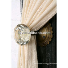 decorative fancy crystal curtain tieback hooks