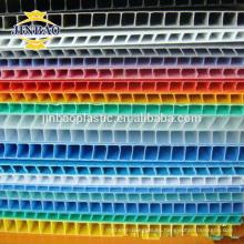 JINBAO Rich Color Custom PP corrugado hoja de hule de plástico PP hoja hueco