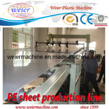 Lignes de machines d'extrusion de feuilles de plastique PE PP