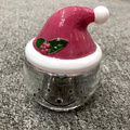 Santa Claus Glass Jar Christmas Container