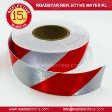 Adhesivo cinta reflectante bicolor para vehículo