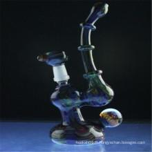 Rôdeur Bubbler travaillant à la couleur fumée marbrée pour fumer (ES-HP-006)