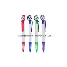 Fußball-Push-Kunststoff-Kugelschreiber für Promotion Lt-L441