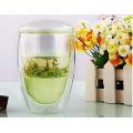Tazas de té de vidrio de la oficina / tazas con infusión para los regalos de Pomotion