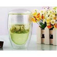 Copos de chá de vidro do escritório / canecas com infusão para Presentes de Pomotion