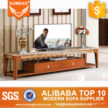 high quality living room furniture modern solid wood marble tv stand