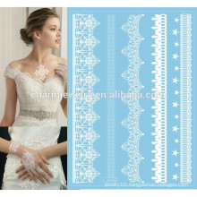 Custom Body Beauty Sticker White or Black Lace Blue Base Color Special Tattoo Stickers For Hands j005