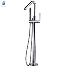 Simple bathroom style bathtub filler free standing tub faucet mixer