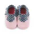 Stars and Stripes Leder Mokassins Babyschuhe
