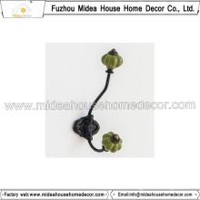 Europe Style Metal Handbag Hook with Ceramic Knop