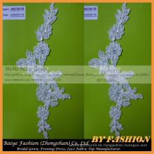 Lace Stoff für Hochzeitskleid Stickerei Appliqued Frankreich Lace Home Design Kleid CM027CB-T05
