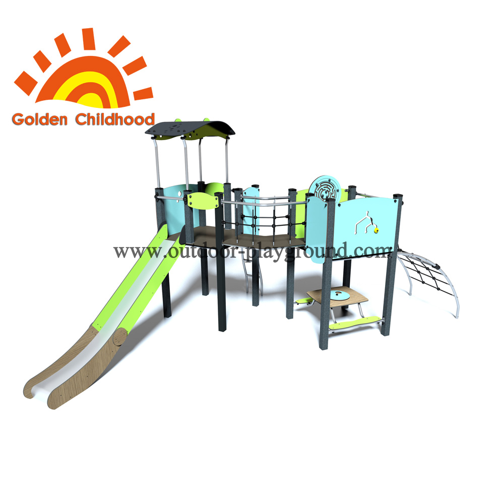 Playground Slide Tower Outdoor Playground Facility For Sale
