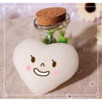 Esponja de beleza em formato de coração