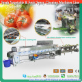 2016 Fruit & Vegetable Cleaning Spray Sorting Machines Line for Selection and Preparation