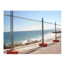 75X100mm PVC beschichtete vorübergehender Zaun