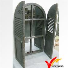 Дизайн окна затвора резные антикварные деревянные зеркало кадра