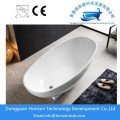 White High Gloss Finish Bathtub Oval Akrilik