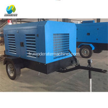 8bar 50kw 190CFM diesel portable vis compresseur d'air