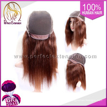 With Bangs Brazilian Ombre Real Remy Silk Top Full Lace Human Hair Wigs