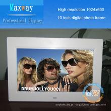 1024 * 600 alta resolução 10 polegadas photo frame digital