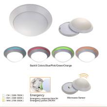 A superfície de Digitas ultra fina montada absorve a lâmpada de Plafond do diodo emissor de luz do sensor de movimento da luz da abóbada