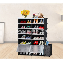 Plastic Cubes Shoe Rack with door