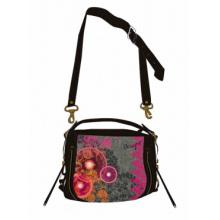 New Hot Flannel Embroidery Floc Print Handbag (NMDK-A16)