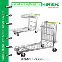warehouse platform cart,warehouse arrangement trolley/cart,supermarket warehouse platform truck