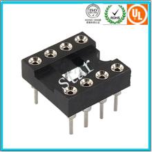 Fábrica Custom 2.54mm 8pin Duplo Row Pin Header IC Soquete