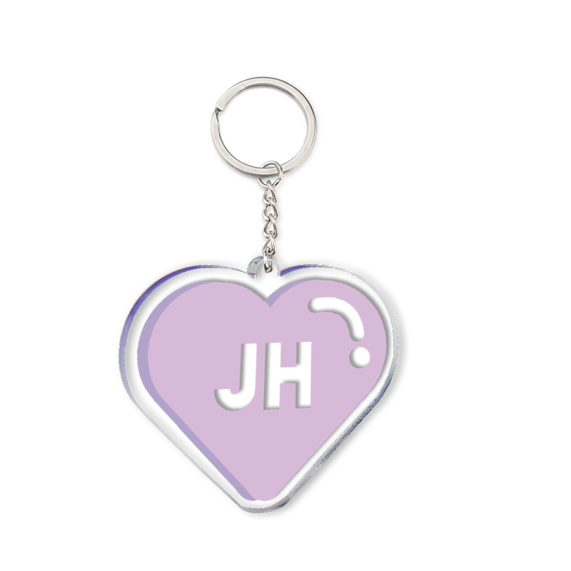 Acrylic Heart Keychain Purple