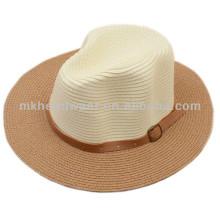 Sombrero de paja plegable del sol de la playa del verano de la venta caliente del verano