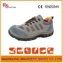Calçados de segurança de boa qualidade, sapatos de couro de camurça em couro RS011