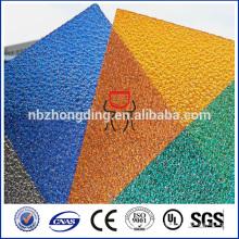 panneau gaufré en polycarbonate en feuille gaufré / pc en relief