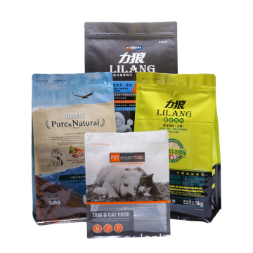 Bottom With Zipper Packaging Aluminum Pet Food Bag