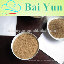 La tasa de eliminación de aceite fue de 96% de conchas de nuez trituradas 1-3 mm
