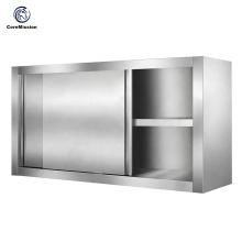 Кухонный шкаф с раздвижной дверью из нержавеющей стали