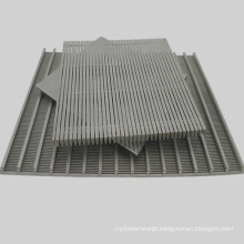 China Supply Low Price Wedge Wire Screen Flat Panel for Filtering and Grain Drying