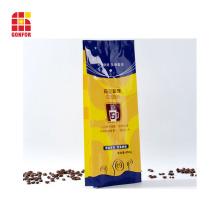 Vierfach versiegelter Verpackungsbeutel mit Seite für 16 Unzen Kaffee