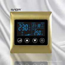 4-Rohr-Klimagerät-Thermostat-Berührungsschalter im Metallrahmen (SK-AC2000L8-4P-N)