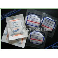 Almohadilla de ojo de gasa no tejida / algodón embalaje individual
